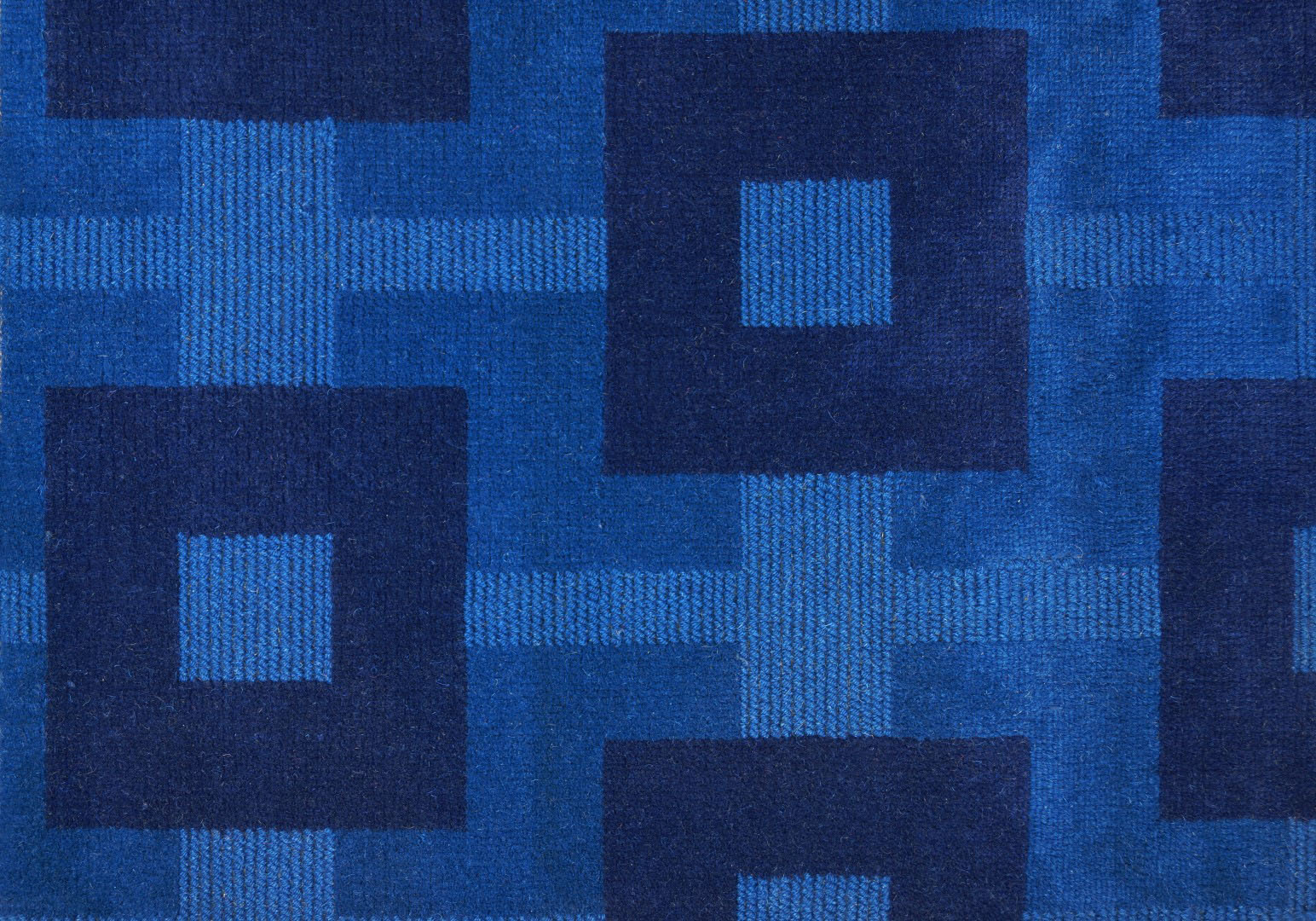 moquette tiss e 100 laine motif graphique beaut bleu. Black Bedroom Furniture Sets. Home Design Ideas